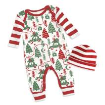 Tesa Babe Christmas Reindeers Santa Clothes Rompers Set for Newborns & Toddlers Baby Boys & Girls, Multi