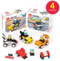Baker Ross Building Brick (Pack of 4) Speed Racer Building Kit