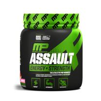 MusclePharm Assault Sport Pre-Workout Powder with High-Dose Energy, Focus, Strength, and Endurance with Creatine, Taurine, and Caffeine, Watermelon, Energy Drink Powder, Pre-Workout Power, 30 Servings