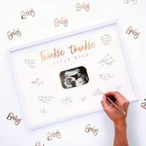 Ginger Ray Baby Shower Scan Guest Book Fram Party Decoration Twinkle Twinkle