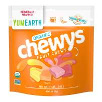 YumEarth Organic Chewys 8 ounce Pack Allergy Friendly Non GMO Gluten Free Vegan, 6 Count