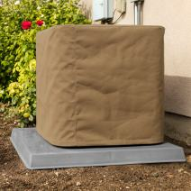 """SugarHouse Outdoor Air Conditioner Cover - Ultimate Sunbrella Canvas - Made in The USA - 20-Year Warranty - 30"""" x 30"""" x 36"""" - Beige"""