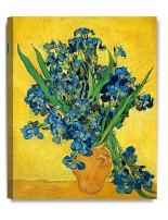 DECORARTS - Irises Vase Flower, Vincent Van Gogh Art Reproduction. Giclee Canvas Prints Wall Art for Home Decor 20x16