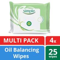 Simple Oil Balancing Wipes, 25 wipes, 4 Count