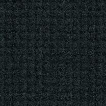 M+A Matting 385 Brush Hog Plus Nylon Fiber Entrance Outdoor Floor Mat with Drainable Fabric Border, SBR Rubber Backing, 8' Length x 4' Width, Charcoal Brush