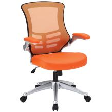 Modway Attainment Mesh Back and Vinyl Seat Modern Office Chair in Orange