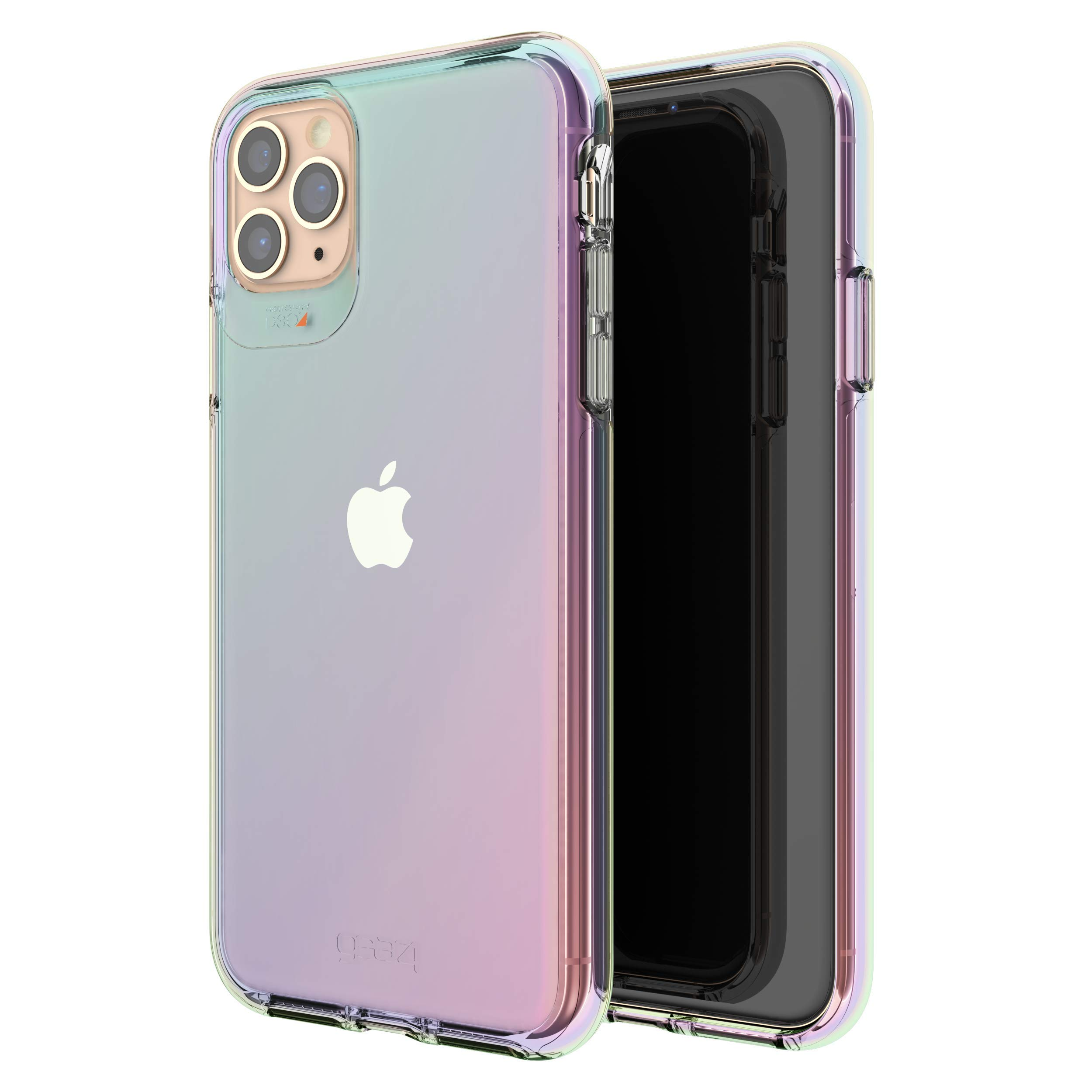 Gear4 Crystal Palace Iridescent Compatible with iPhone 11 Pro Max Case, Advanced Impact Protection with Integrated D3O Technology, Anti-Yellowing, Phone Cover – Iridescent