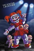 """Trends International Five Nights at Freddy's: Sister Location - Baby, 22.375"""" x 34"""", Premium Unframed"""