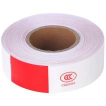 8MILELAKE Reflective Safety Tape 2inches x 150ft for Automobile Car Truck Boat Trailer 6inches Red / 6inches White