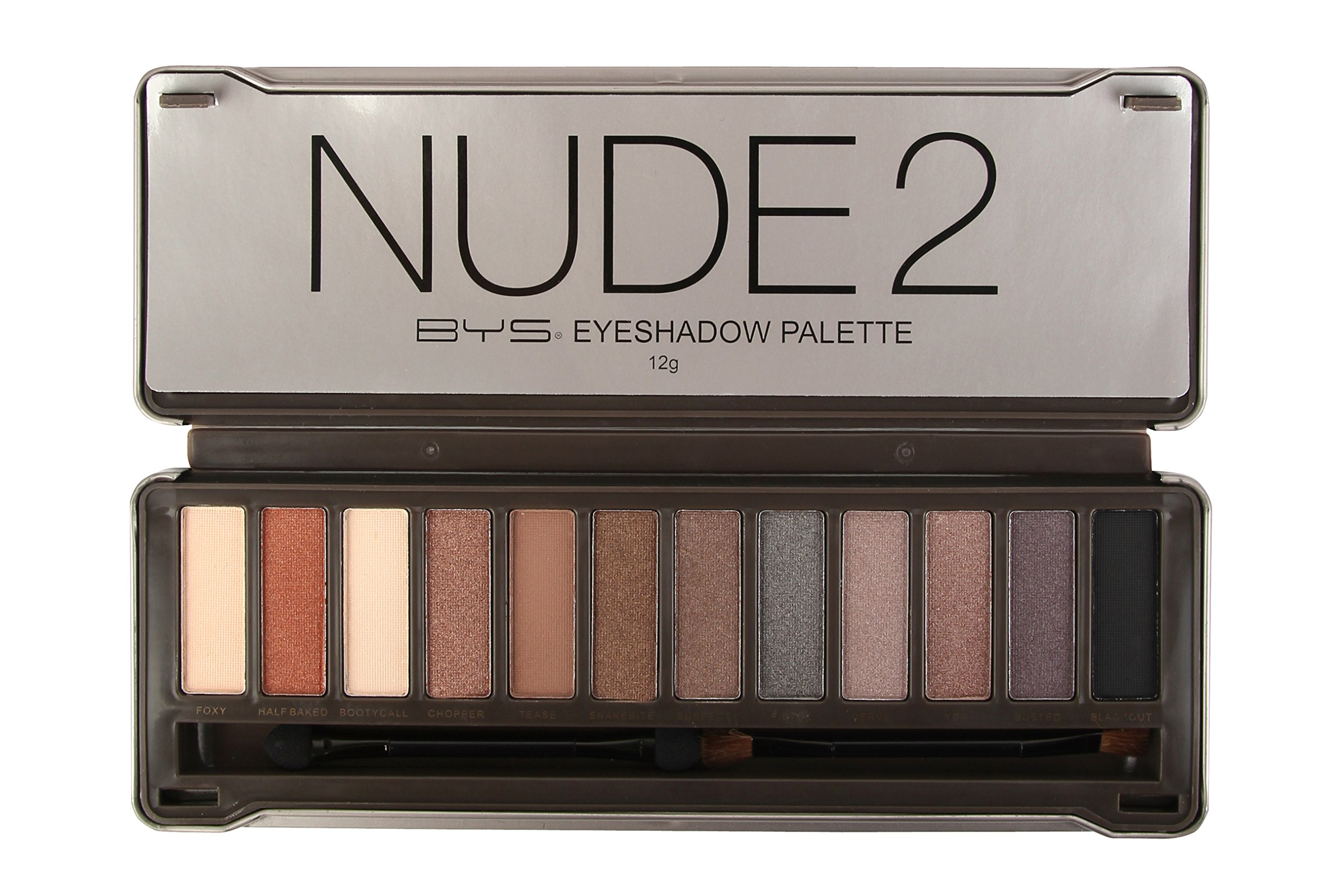 BYS 12 Color Eyeshadow Palette, Nude 2, 3 Ounce, 1 Count