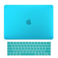 "TOP CASE MacBook Pro 13 inch Case 2019 2018 2017 2016 Release A2159 A1989 A1706, 2 in 1 Signature Bundle Rubberized Hard Case + Keyboard Cover Compatible MacBook Pro 13"" Touch Bar, Aqua Blue"