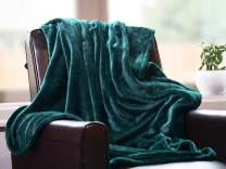 """Higher Comfort Super Soft Throw for Couch - Lightweight Yet Cozy Blanket for All Seasons - Forest Green - 50"""" x 60"""""""