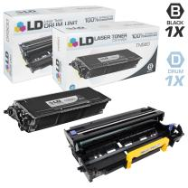 LD Compatible Toner Cartridge & Drum Unit Replacements for Brother TN-560 High Yield & DR-500 (1 Toner, 1 Drum, 2-Pack)