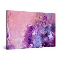 "Startonight Canvas Wall Art Abstract Purple Painting, Framed 32"" x 48"""