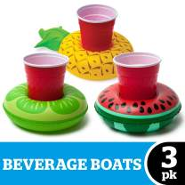 BigMouth Inc. Beverage Boats, Cupholder Floats for Pool Parties (Tropical) , Multi-Colour, One Size