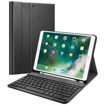 "Fintie Keyboard Case for iPad Air 3rd Gen 10.5"" 2019 / iPad Pro 10.5"" 2017 - SlimShell Stand Protective Cover w/Magnetically Detachable Wireless Bluetooth Keyboard and Pencil Holder (Black)"