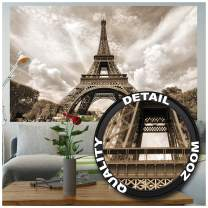 Poster – Eiffel Tower – Picture Decoration France Capital City Paris Monument Champ de Mars Radio TV Outlook Retro Style Image Photo Decor Wall Mural(55x39.4in - 140x100cm)