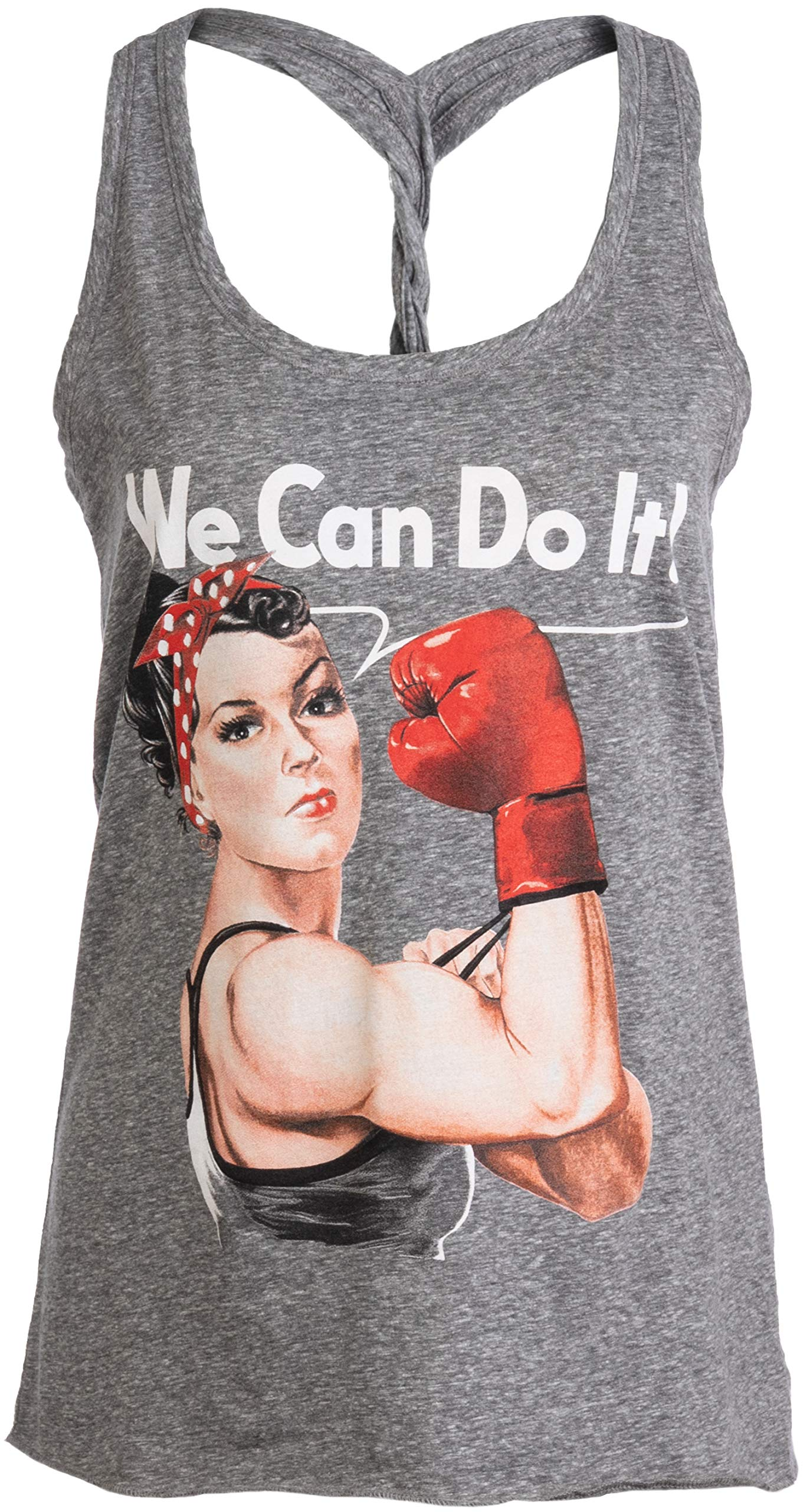 Rosie The Boxer | Funny Riveter Kickboxing Kick Boxing Racerback Tank Top for Women