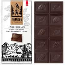 Milkboy Swiss Chocolates - 72% Cocoa with Coffee Chocolate Bars (5 Pack)