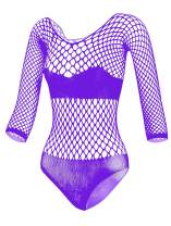 LEMON GIRL Women Fishnet Lingere BadyDolls Chemise Long Sleeve Stocking Dress Size US2-18