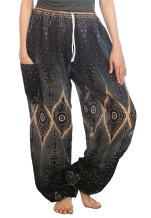 LOFBAZ Harem Pants for Women S-4XL Plus Yoga Boho Hippie Beach Travel Lounge PJs