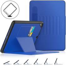 SEYMAC Stock iPad 6th/5th Generation/Air 2/Pro 9.7 case, [Full Body] Protective iPad 9.7 inch Smart Cover Auto Sleep with Stand[Pencil Holder] Feature for iPad 2018/2017 / Air 2/ Pro 9.7 (Black/Blue)