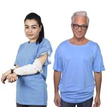 Post Shoulder Surgery Recovery & Rehab Shirt with Stick On Fasteners