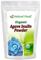 Organic Agave Inulin Powder - All Natural Fiber Supplement - Prebiotic Superfood For Drinks, Smoothies and Recipes - Great For Cooking or Baking - Raw, Non GMO, Gluten Free, Kosher - 1 lb