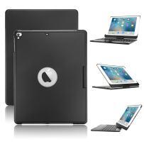 Keyboard Case for iPad 9.7 2018 2017/iPad Pro 9.7/iPad Air,Boriyuan 7 Color Backlit Bluetooth Keyboard Case Folio Smart 360 Rotate Stand Keyboard Cover for iPad Air/Air 2/iPad Pro 9.7/iPad 9.7(Black)