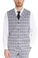 Hanayome Men Waistcoat Shawl Collar Sleeveless Slim Fit Jacket Business Suit Vests VS30