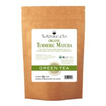 The Republic of Tea, Organic Turmeric Matcha, 36 Tea Bags