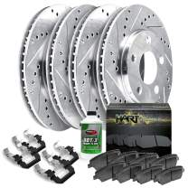 [FULL KIT] PLATINUM HART DRILLED SLOT BRAKE Rotors Kit AND CERAMIC PAD PHCC.6510702