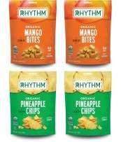 Rhythm Superfoods Crunchy Fruit Bites Variety Pack, Mango/Pineapple, Organic & Non-GMO, 1.8 Oz (Pack Of 4), Vegan/Gluten-Free Dehydrated Sweet Fruit Snacks