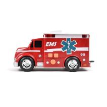 Maxx Action Ambulance with Lights, Sounds and Friction-Rev Motor (Color May Vary)