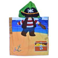 Hooded Bath Beach Towel Set– Pirate Super Soft for Baby,Boys,Girls,Toddlers. Comes with a Story Book, Great for Pool Swimming Coverup, Ponchos, Robes or Capes, 1-7 Years kid