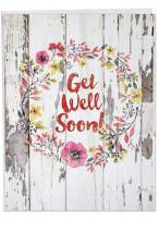 Blooming Driftwood' Big Get Well Card with Envelope 8.5 x 11 Inch - Flowers, Watercolor Painting on Wood Pallet, Get Well Soon Stationery Set for Personalized Message of Quick Recovery J6108IGWG