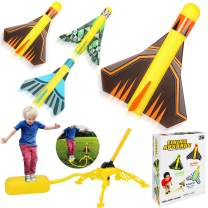 Dstper Rocket Launcher Toys,Include 4 Rockets-Outdoor Jump Rocket Launcher Toy for kids, Great Ideal Birthday Gift Toys for Ages 5 (6, 7, 8) and Up Boys and Girls