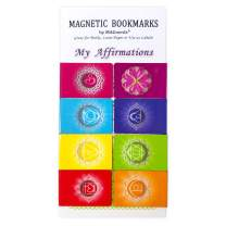 Positive Affirmations Bookmarks Chakra Magnetic Book Markers Set of 8 - Motivational Gratitude Page Markers for Women and Men