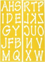 Darice 121727 Upper Case Alphabet Stencils, 3.5-Inch