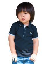 Dakomoda Boys' Short Sleeve Pique Polo Shirt Black - 100% Pima Cotton