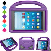 Kids Case for Fire HD 8 - TIRIN Light Weight Shock Proof Handle Kid –Proof Cover Kids Case for Amazon Fire HD 8 Tablet (7th and 8th Generation Tablet, 2017 and 2018 Release), Purple
