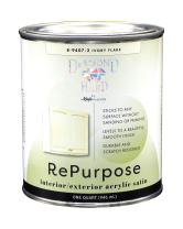 Majic Paints 8-9407-2 Diamond Hard Interior/Exterior Satin Paint RePurpose your Furniture, Cabinets, Glass, Metal, Tile, Wood and More, 1-Quart, Ivory Flake