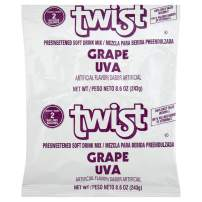 Twist Grape Powdered Drink Mix (8.6 oz Packets, Pack of 12)