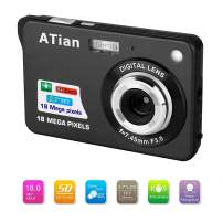 "ATian 2.7"" LCD HD Digital Camera Amazing Rechargeable Camera 8X Zoom Digital Camera Kids Student Camera Compact Mini Digital Camera Pocket Cameras for Kid/Seniors/Student (Black)"