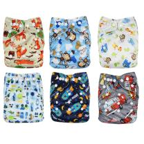 Baby Washable Reusable Pocket Cloth Diapers, 3 Pack, Diaper Covers by Genio Baby