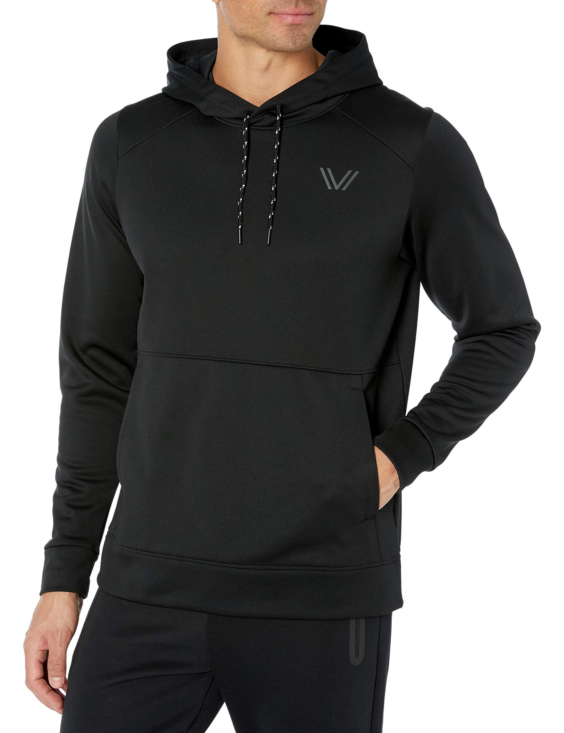 Amazon Brand - Peak Velocity Men's Quantum Fleece Pull-Over Loose-Fit Hoodie