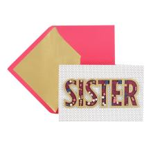 Hallmark Signature Birthday Card for Sister (Confetti Shaker)