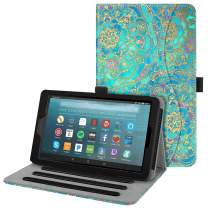 Fintie Case for All-New Amazon Fire 7 Tablet (9th Generation, 2019 Release) - [Multi-Angle] Viewing Folio Stand Cover with Pocket Auto Wake/Sleep, Shades of Blue