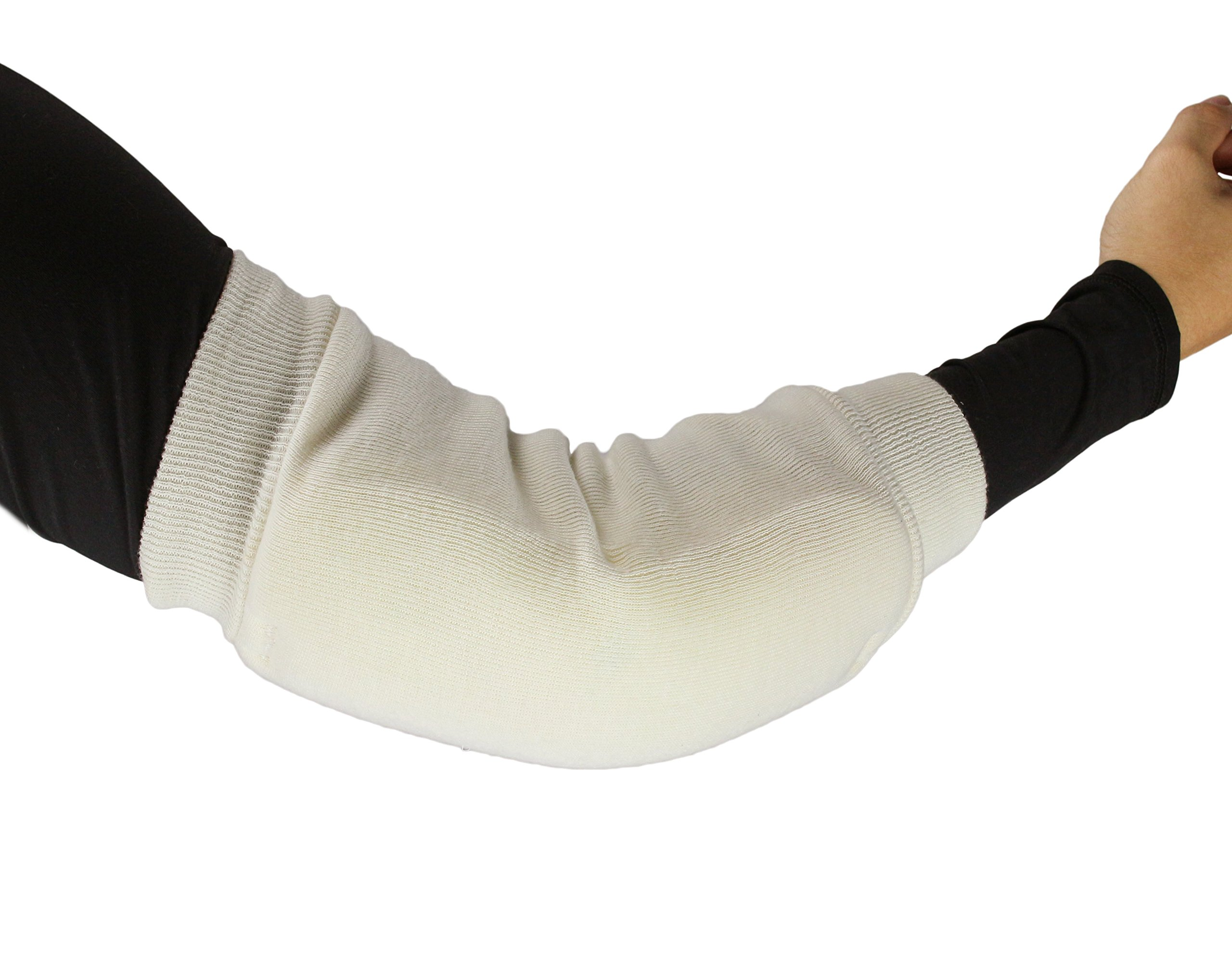 """ObboMed® MB-1930L Heel/Elbow Protector Sleeve- Heel Arch Support/Ankle Sock– Breathable Fabric Cotton & Poly Foam Maximizes Skin Aeration, Minimizes Pressure– L: 12""""-18"""", Length 14"""""""