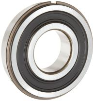 SKF 6307 2RSNRJEM Medium Series Deep Groove Ball Bearing, Deep Groove Design, ABEC 1 Precision, Double Sealed, Snap Ring, Contact, Steel Cage, C3 Clearance, 35mm Bore, 80mm OD, 21mm Width, 4270lbf Static Load Capacity, 7460lbf Dynamic Load Capacity